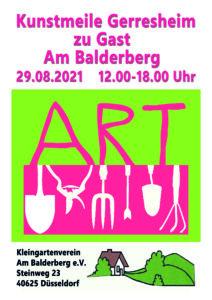 Kunstmeile Gerresheim zu Gast Am Balderberg Plakat